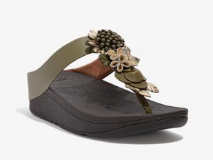 Fino Floral olive green